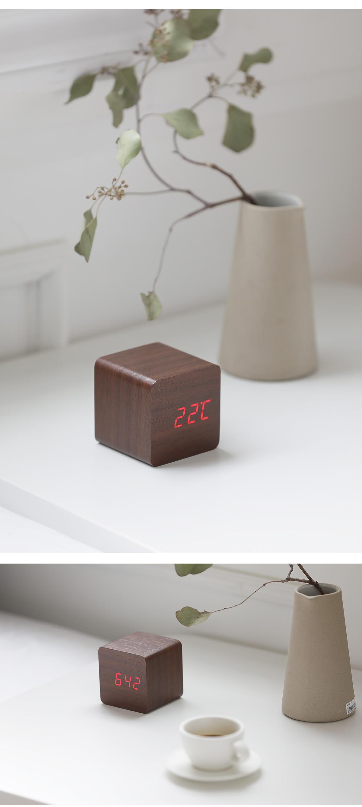 몬트 아이우드 LED 무소음 우드 탁상시계 2size 2colors - 데이리브, 19,800원, 벽시계, 무소음/저소음