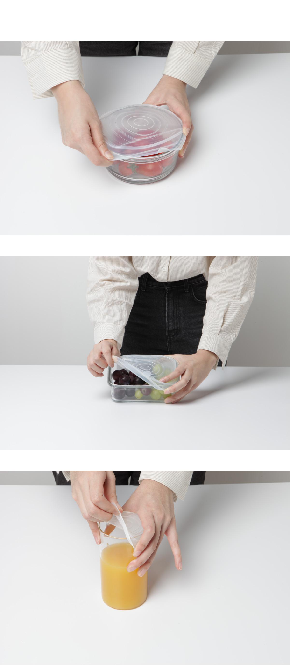 데이리브 주방 만능 실리콘 뚜껑 마개 6p 세트 - 데이리브, 5,800원, 컵받침/뚜껑/홀더, 컵뚜껑